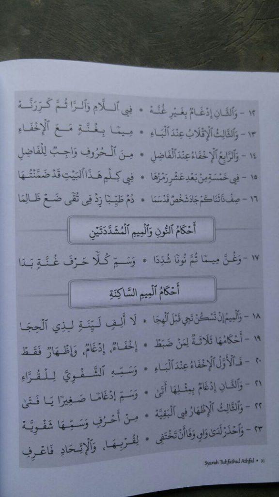 Buku Syarah Tuhfatul Athfal Pedoman Tajwid Untuk Pemula isi 2