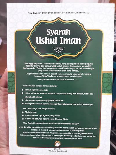 Buku Syarah Ushul Iman Penjelasan Ringkas Dasar Iman Cover 2