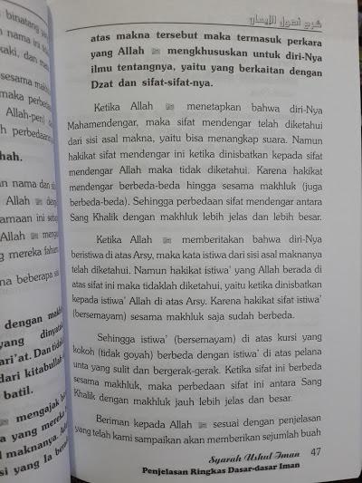 Buku Syarah Ushul Iman Penjelasan Ringkas Dasar Iman Isi