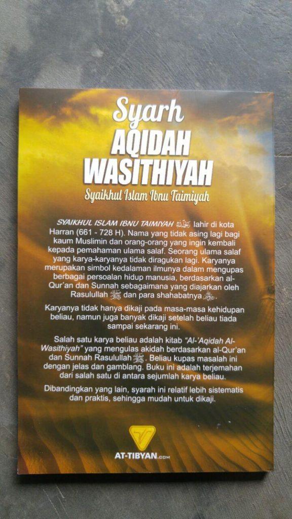 Buku Syarh Aqidah Wasithiyah Syaikhul Islam Ibnu Taimiyah cover 2