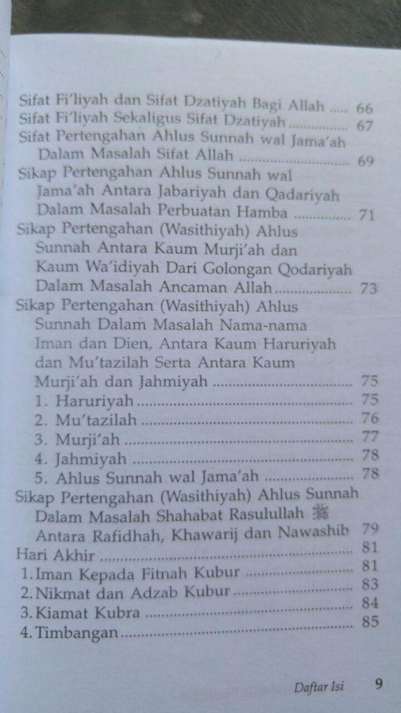 Buku Syarh Aqidah Wasithiyah Syaikhul Islam Ibnu Taimiyah isi