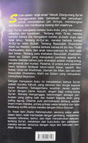 Buku Syiah Merajalela di Tengah Ahlus Sunnah Cover Belakang