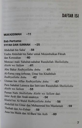 Buku Syiah Merajalela di Tengah Ahlus Sunnah Daftar Isi