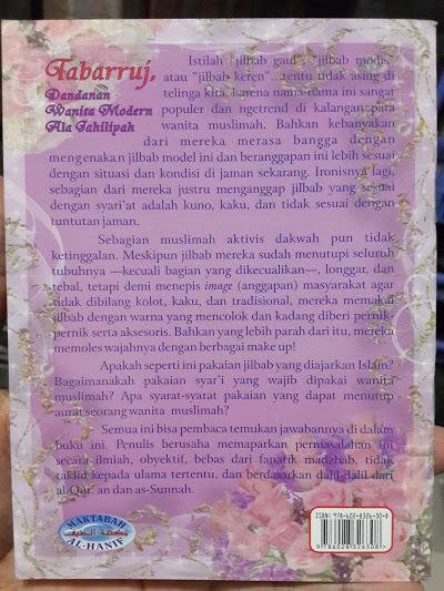 Buku Tabarruj Dandanan Wanita Modern Ala Jahiliyah Cover 2