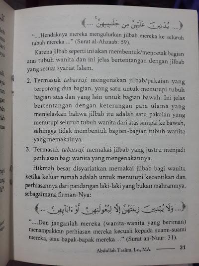 Buku Tabarruj Dandanan Wanita Modern Ala Jahiliyah Isi