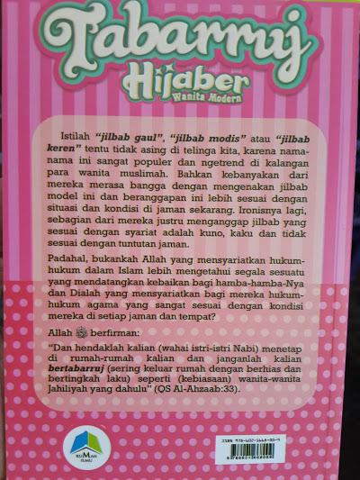 Buku Tabarruj Hijaber Wanita Modern Daftar Isi
