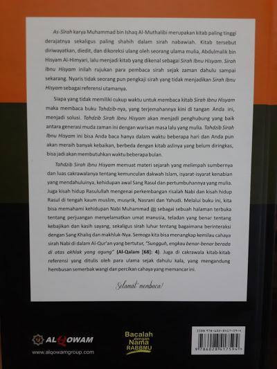 Buku Tahdzib Sirah Ibnu Hisyam Cover Belakang