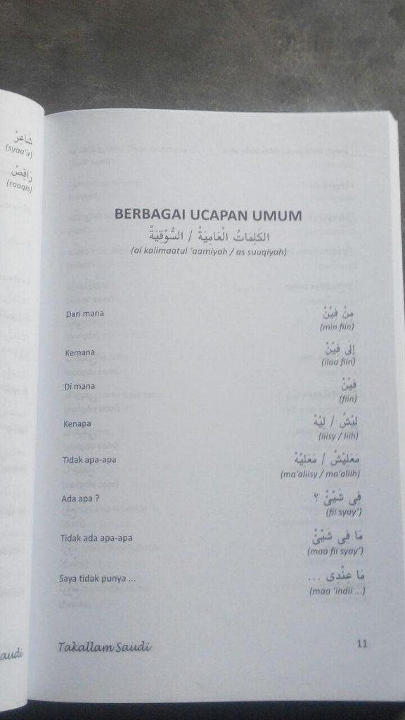 Buku Takallam Saudi! Ayo Bicara Dialek Saudi isi 2