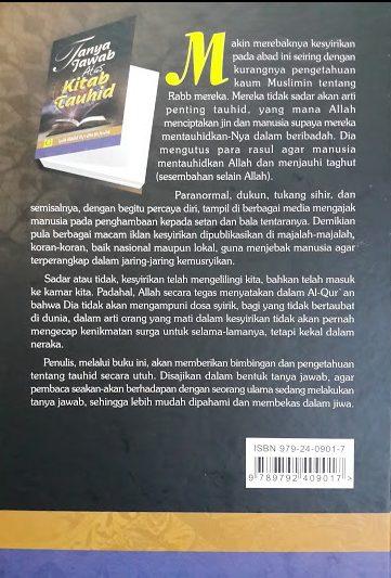 Buku Tanya Jawab Atas Kitab Tauhid Cover Belakang