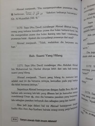 Buku Tanya Jawab Fikih Imam Ahmad Isi
