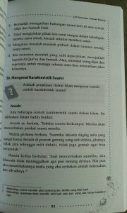 Buku Tanya Jawab Psikologi Muslimah 133 Persoalan wanita isi 3