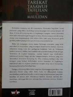 Buku Tarekat Tasawuf Tahlilan Dan Maulidan Cover Belakang