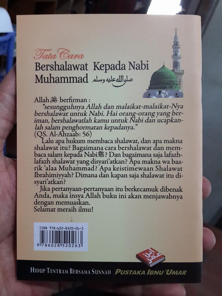 Buku Saku Tata Cara Bershalawat Kepada Nabi Muhammad Cover 2