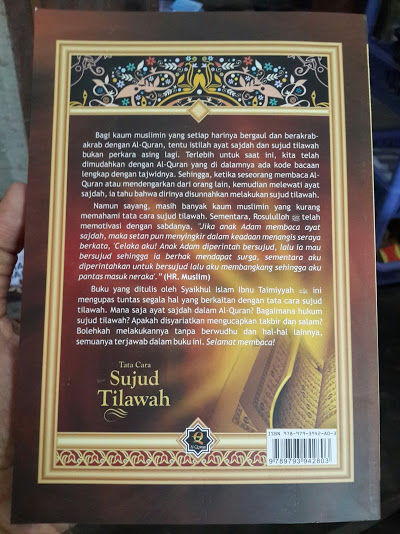 Buku Tata Cara Sujud Tilawah Cover Belakang