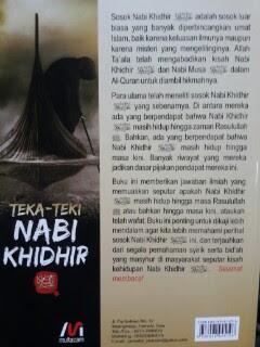 Buku Teka-Teki Nabi Khidhir Telaah Ilmiah Nabi Khidhir Cover 2