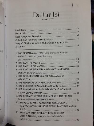 Buku Terjemah Al-Adabul Mufrod Kitab Akhlak Muslim Daftar Isi