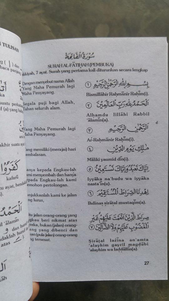 Buku Saku Terjemah Juz Amma isi