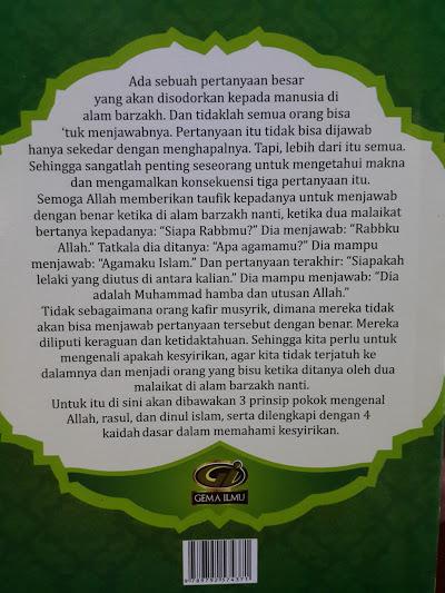 Buku Saku Terjemah Dan Matan Ushul Tsalatsah Qawaid Arba Cover 2