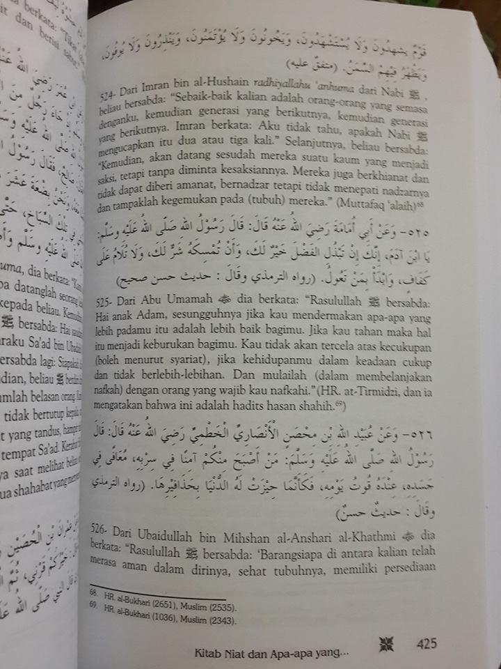 Buku Terjemah Riyadhus Shalihin Imam An-Nawawi Isi