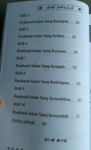 Buku Terjemah Syarah Nawaqidul Islam 10 Pembatal Keislaman isi