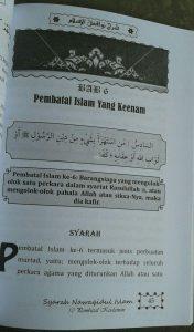 Buku Terjemah Syarah Nawaqidul Islam 10 Pembatal Keislaman isi 3