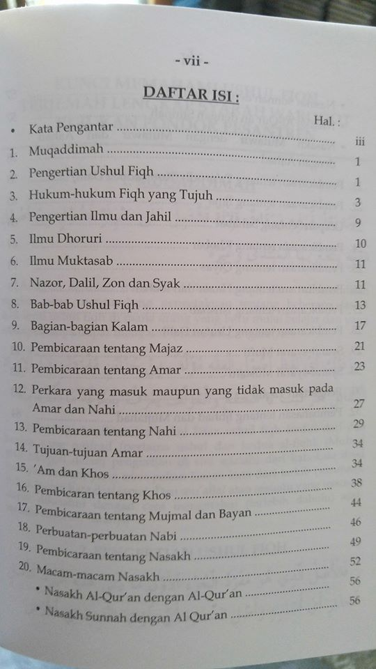 terjemah syarah waraqaat kunci memahami ushul fiqh buku isi 2