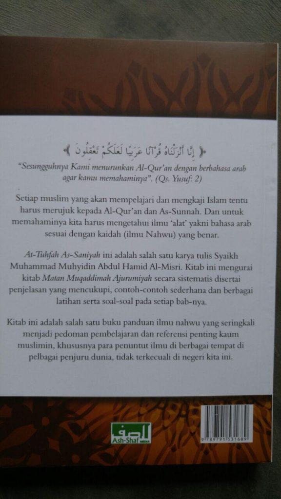 Buku Terjemah Tuhfatus Saniyyah isi