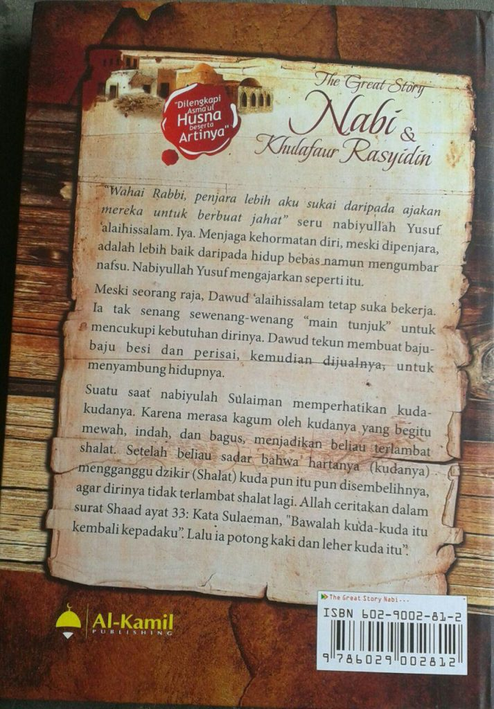 Buku The Great Story Nabi & Khulafaur Rasyidin cover