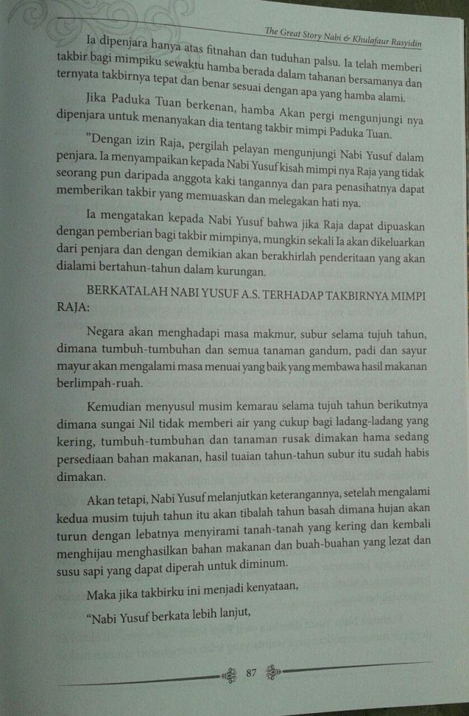 Buku The Great Story Nabi & Khulafaur Rasyidin isi 2