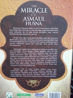 Buku The Miracle Of Asmaul Husna Cover Belakang