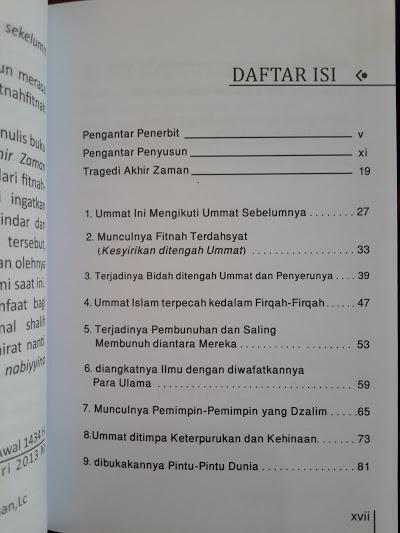 Buku Tragedi Akhir Zaman Dan Solusinya Daftar Isi