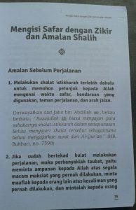 Buku Saku Traveling Bernilai Ibadah isi
