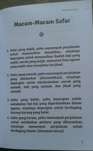 Buku Saku Traveling Bernilai Ibadah isi 3