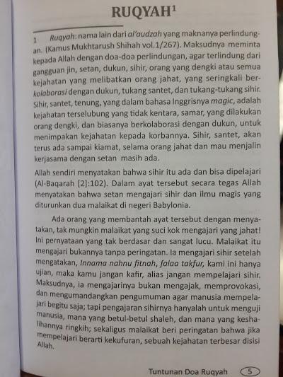Buku Saku Tuntunan Doa Ruqyah Isi 2