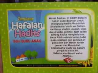 Buku Anak Tuntunan Hafalan Hadits Cover 2