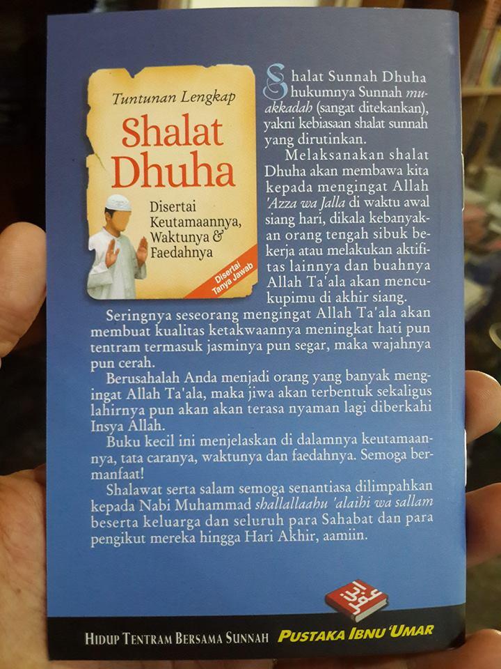 Buku Saku Tuntunan Lengkap Shalat Dhuha Cover 2