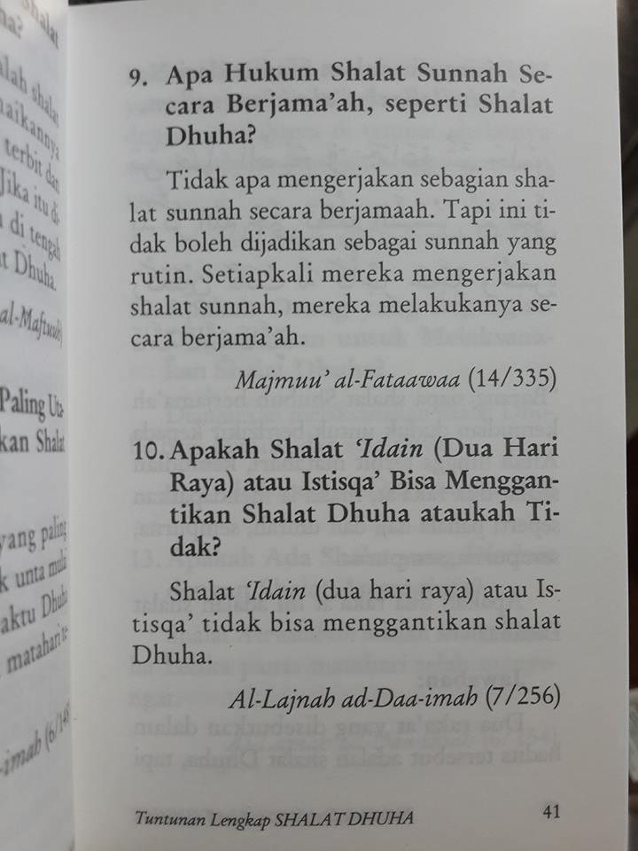 Buku Saku Tuntunan Lengkap Shalat Dhuha Isi 2