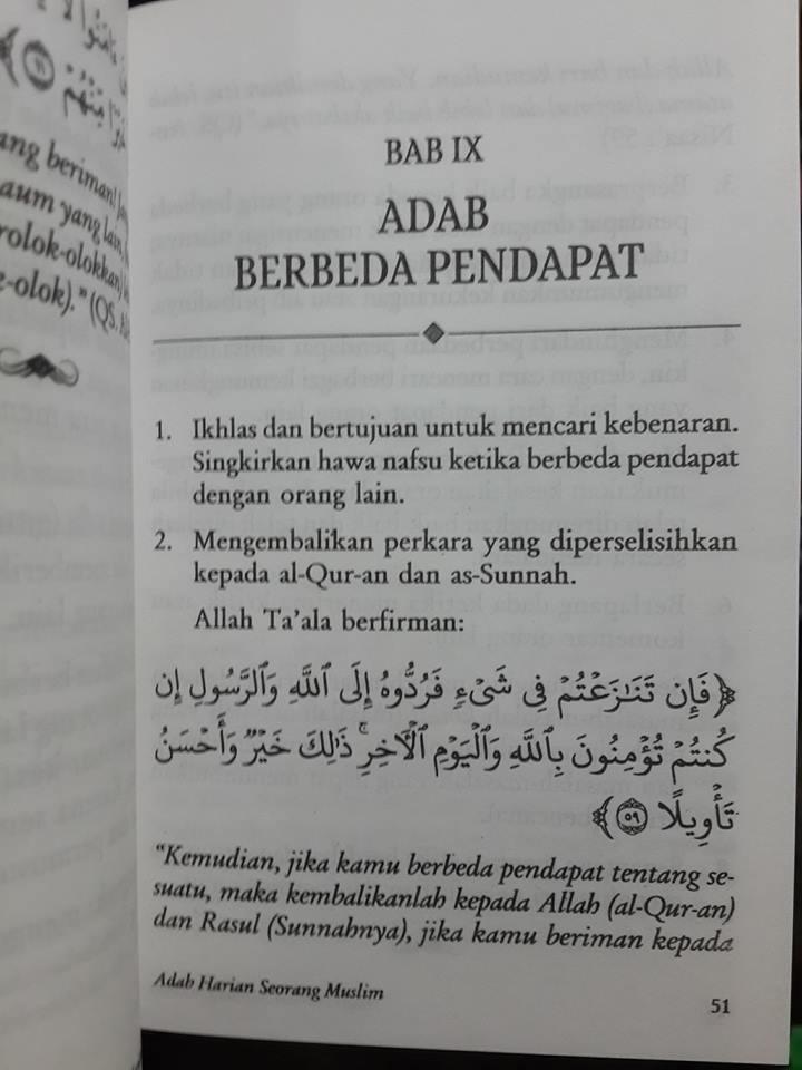 Buku Saku Tuntunan Praktis Adab Harian Muslim Daftar Isi