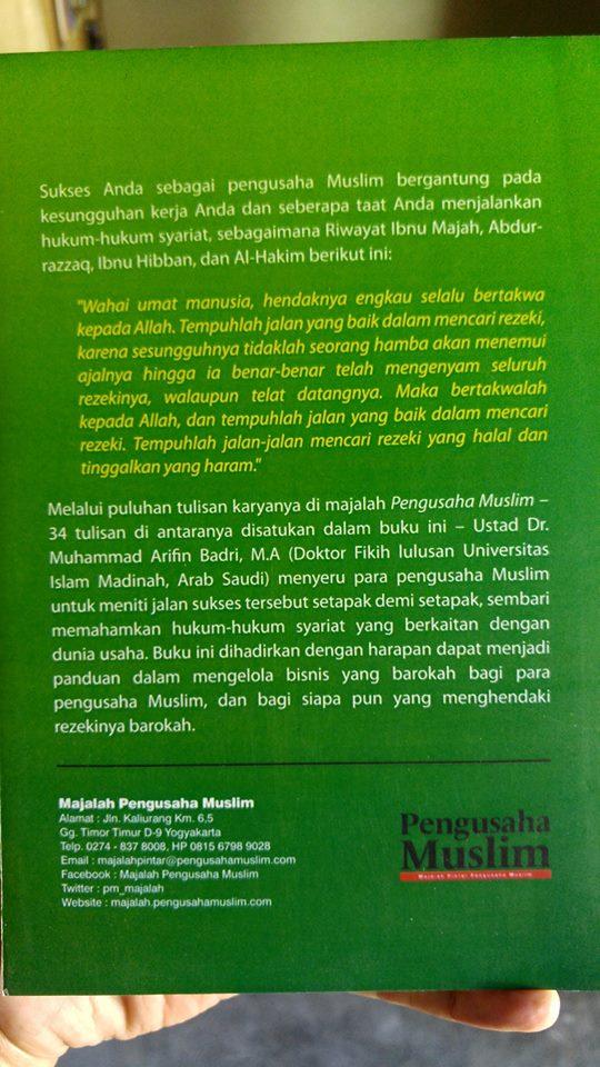 Buku Tuntunan Syariah Untuk Meraih Bisnis Dan Rezeki Barokah cover 2