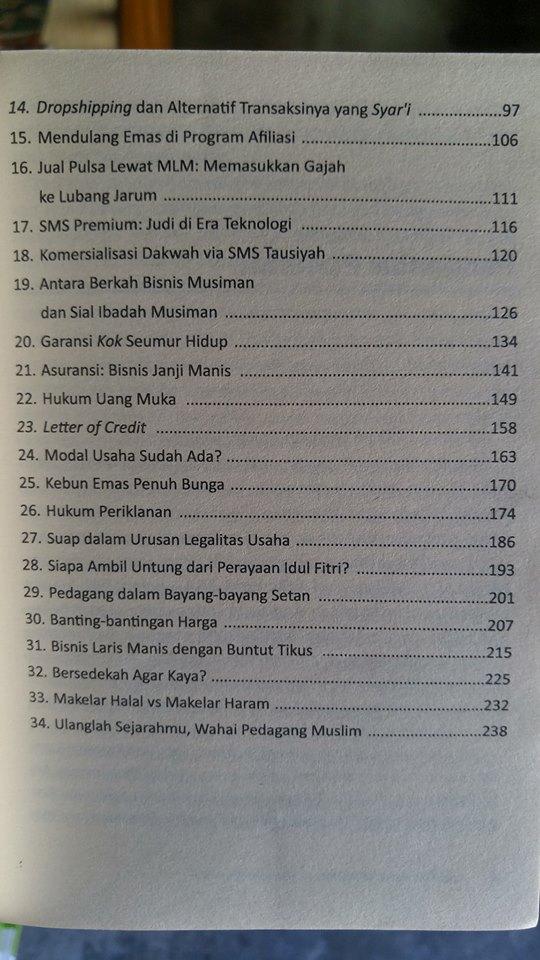 Buku Tuntunan Syariah Untuk Meraih Bisnis Dan Rezeki Barokah isi 2