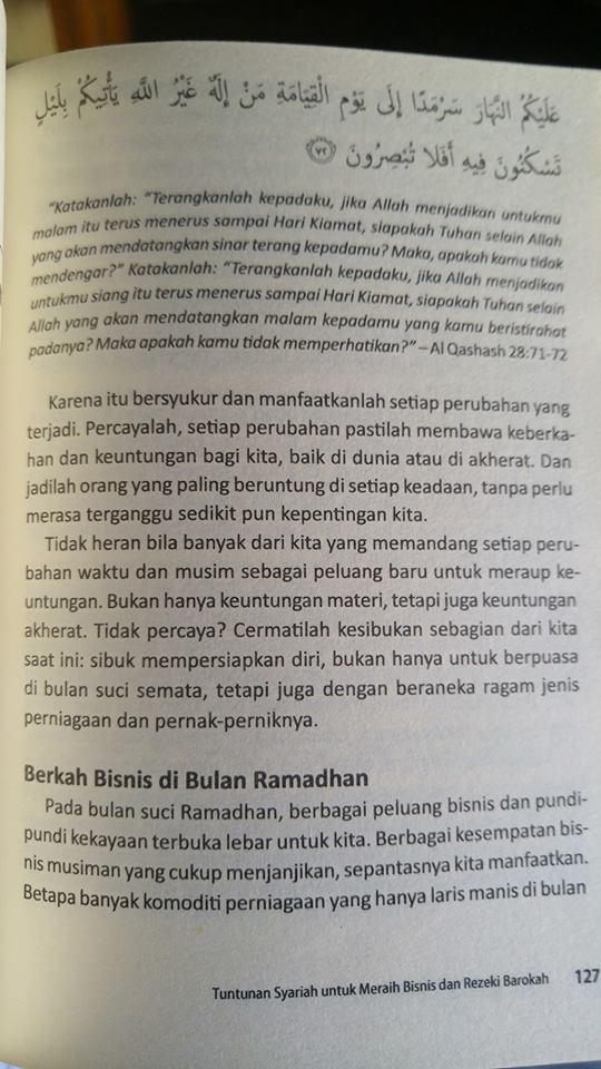 Buku Tuntunan Syariah Untuk Meraih Bisnis Dan Rezeki Barokah isi