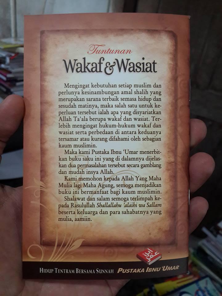 Buku Saku Tuntunan Wakaf Dan Wasiat Cover 2