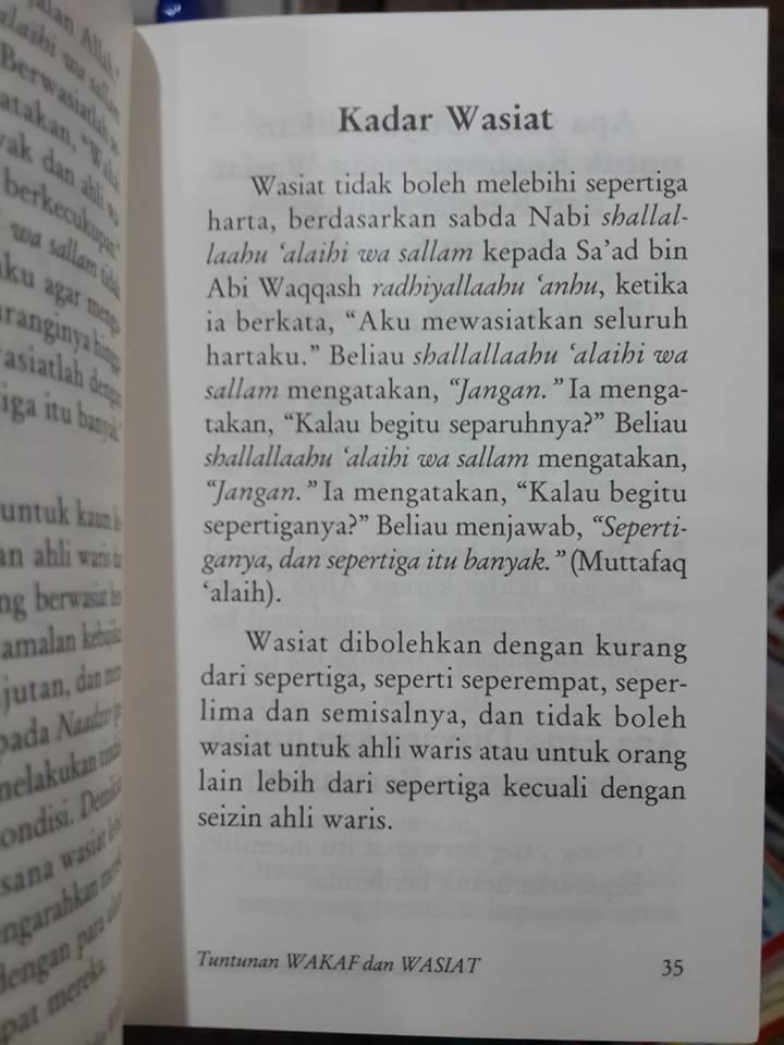 Buku Saku Tuntunan Wakaf Dan Wasiat Isi