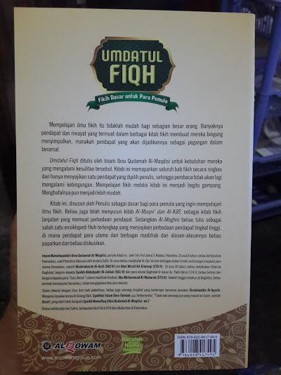 Buku Umdatul Fiqh Fikih Pemula Cover Belakang