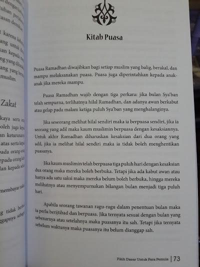 Buku Umdatul Fiqh Fikih Pemula Isi