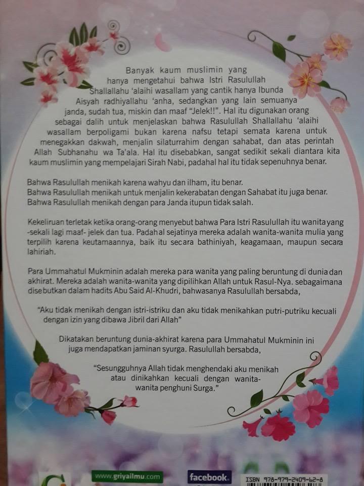 Buku Ummahatul Mukminin Biografi Istri-Istri Nabi Cover 2