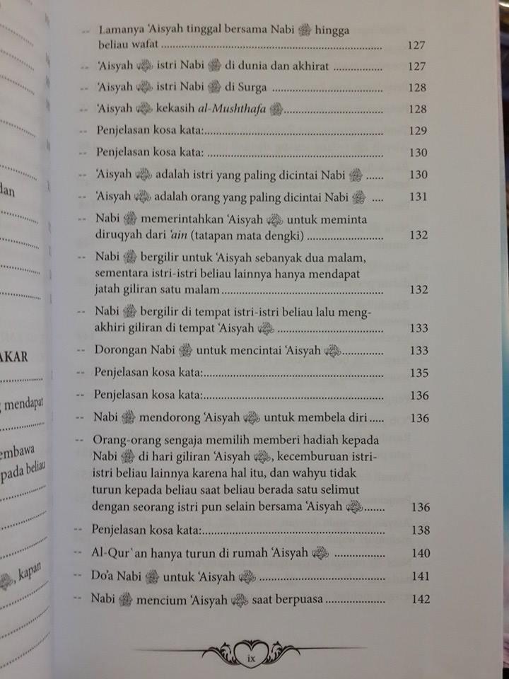 Buku Ummahatul Mukminin Biografi Istri-Istri Nabi Daftar Isi