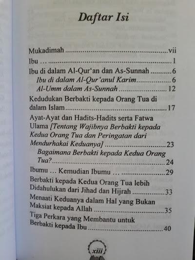 Buku Wahai Ibu Maafkan Anakmu Daftar Isi