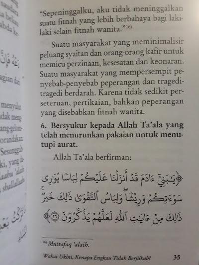 Buku Saku Wahai Ukhti Kenapa Engkau Tidak Berjilbab Isi