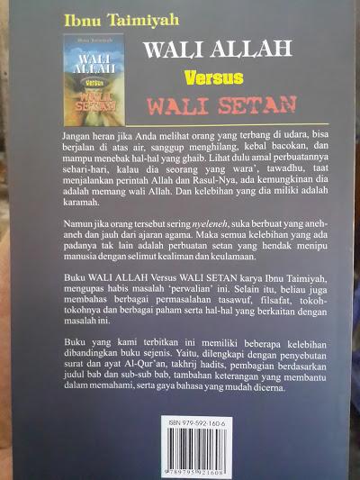 Buku Wali Allah Versus Wali Setan Cover Belakang